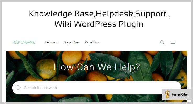Knowledge Base WordPress Help Desk Plugins