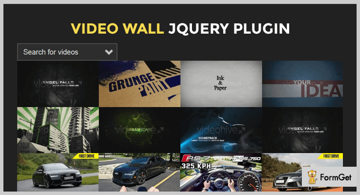 LightBox Video Wall jQuery Video Gallery Plugin