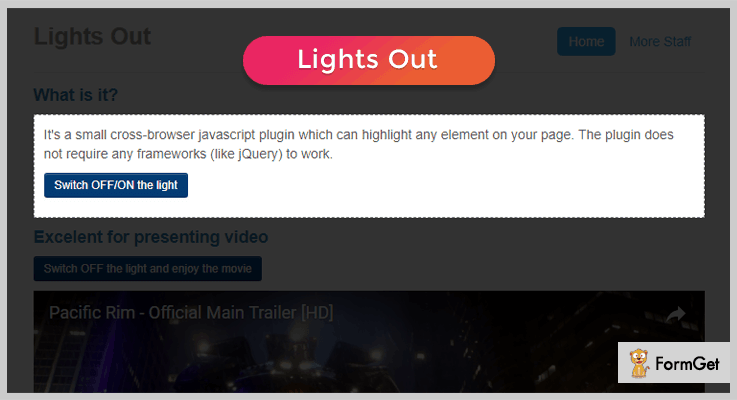 Lights Out jQuery Highlight Plugins