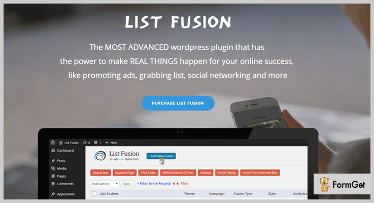 List Fusion Lead Generation WordPress Plugin