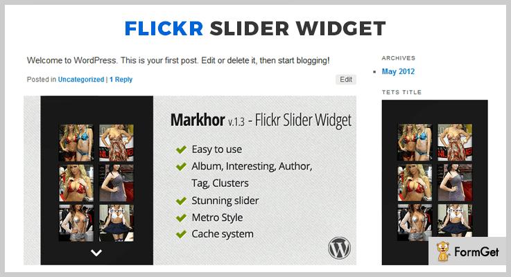 Markhor Flickr WordPress Plugin