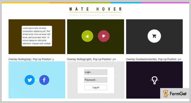 Mate Hover jQuery Overlay Plugins