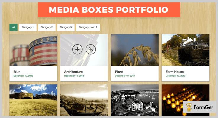 Media Boxes Portfolio jQuery Grid Plugins