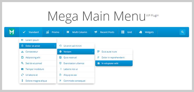 Mega Main Menu - WordPress Drop Down Menu Plugins