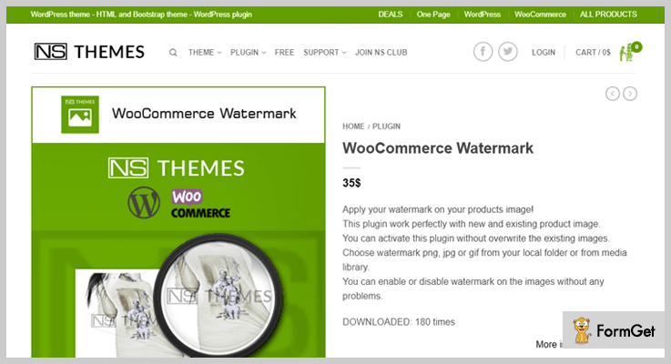 NS Themes Watermark WordPress Plugin