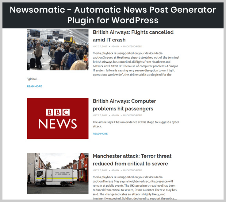 Newsomatic - News WordPress plugin