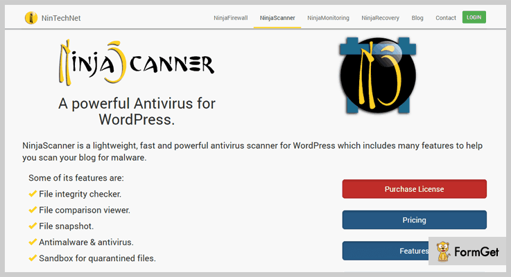 NinjaScanner WordPress Antivirus Plugin