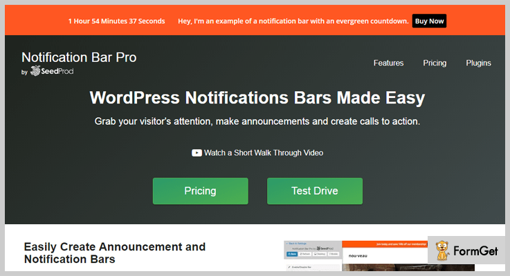 Notification Bar Pro Notification WordPress Plugin