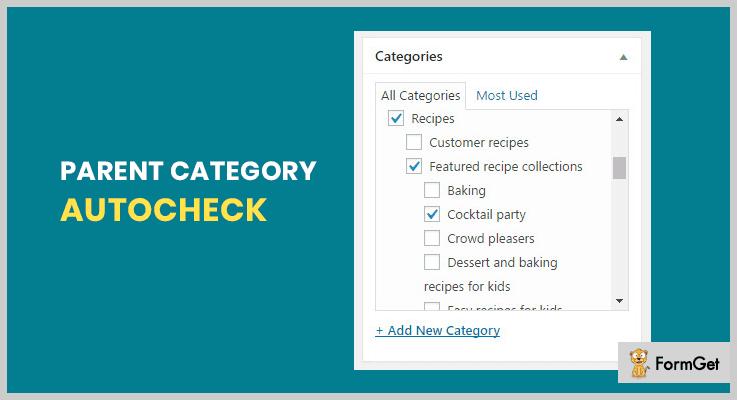 Parent Category AutoCheck WordPress Checklist Plugins