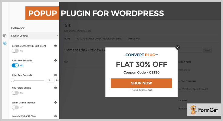 ConvertPlus Lead Generation WordPress Plugin