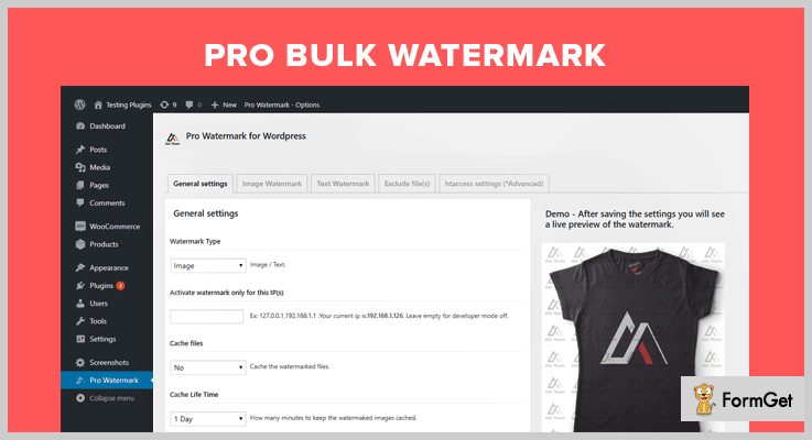 Pro Bulk Watermark WordPress Plugin