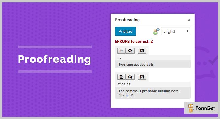 Proofreading WordPress Proofreading Plugin