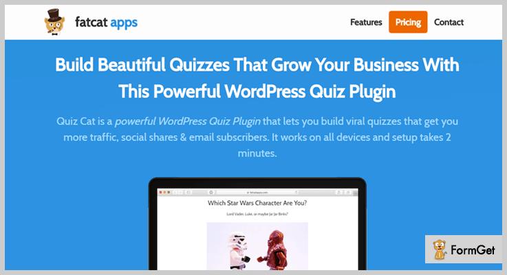 Quiz Cat WordPress Quiz Plugin