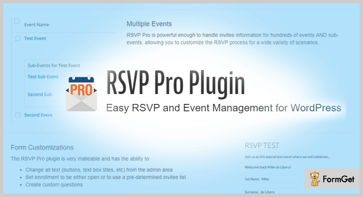RSVP Pro Plugin RSVP WordPress Plugins