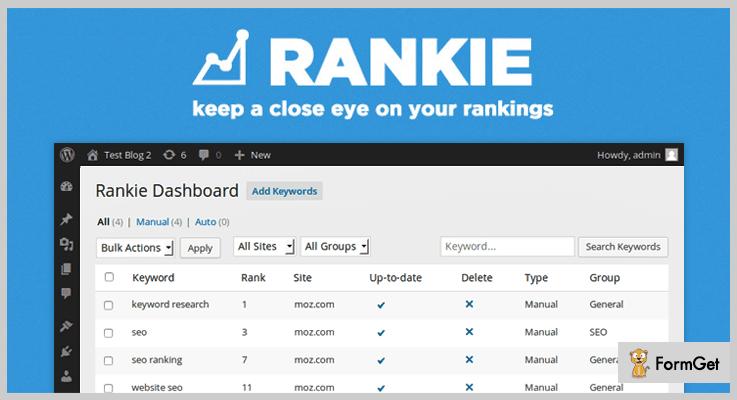 Rankie Rank Tracker WordPress Plugins