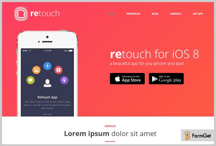 ReTouch App WordPress Theme
