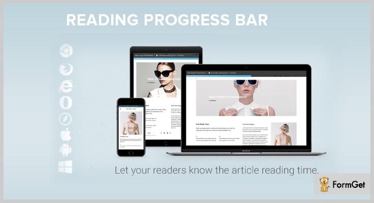 Reading WordPress Progress Bar Plugin