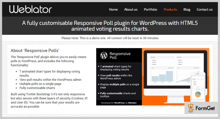 Responsive Poll WordPress Plugin