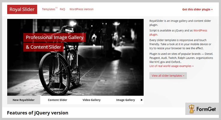 RoyalSlider jQuery Image Gallery Plugins