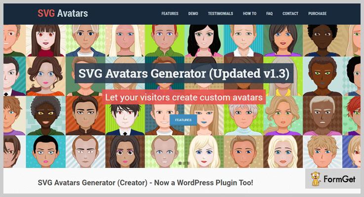 SVG Avatars Generator Gravatar WordPress Plugins