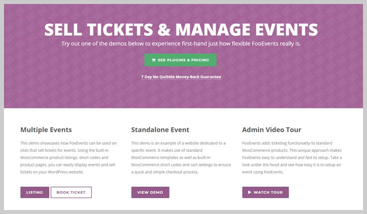 FooEvents for WooCommerce - WordPress e-Ticket Plugins