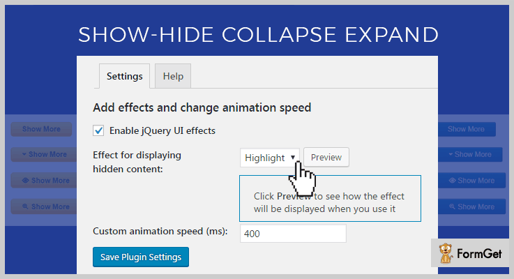 Show Hide Collapse Expand WordPress Plugin