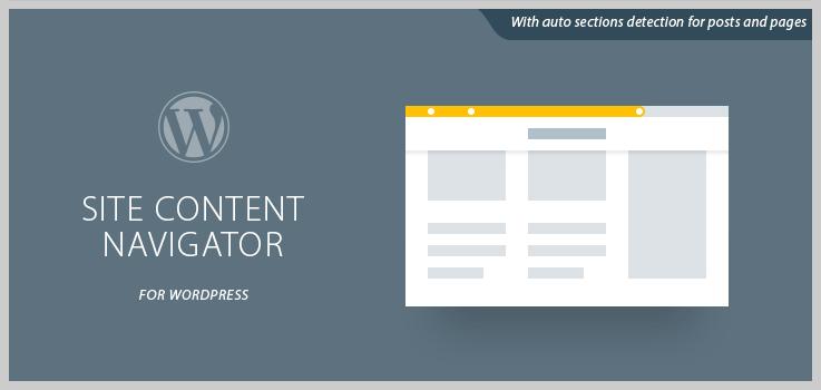 Site Content Navigator For WordPress - WordPress Progress Bar Plugins