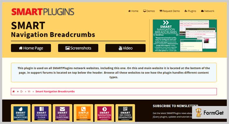 Smart Navigation Breadcrumbs WordPress Plugin