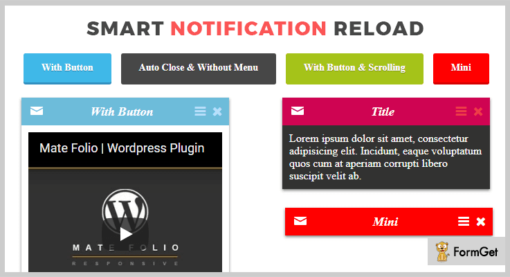Smart Notification Reload jQuery Notification Plugins