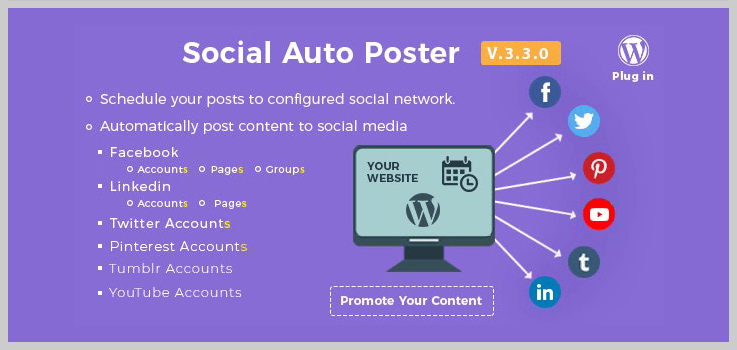 Social Auto Poster - Auto Post WordPress Plugins
