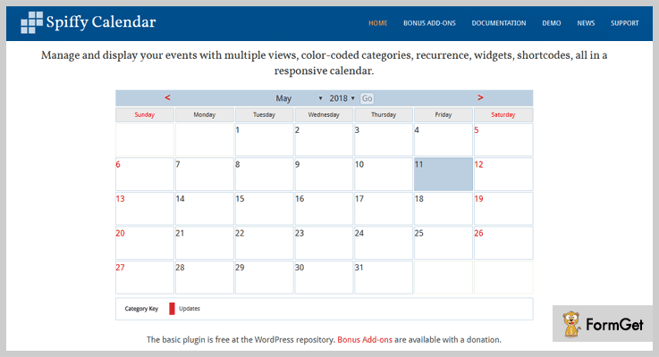 Spiffy Calendar Free Calendar WordPress Plugins