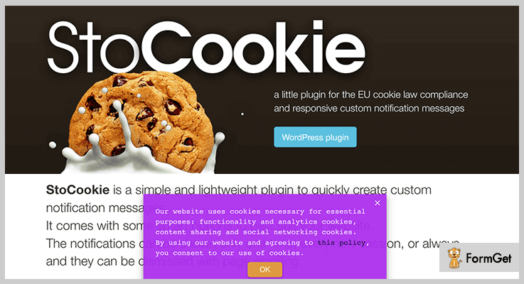 StoCookie jQuery Notification Plugins