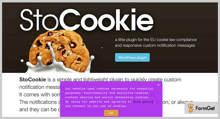 StoCookie jQuery Notification Plugins