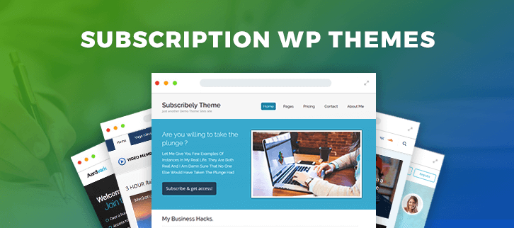 5 Best Subscription WordPress Themes 2018