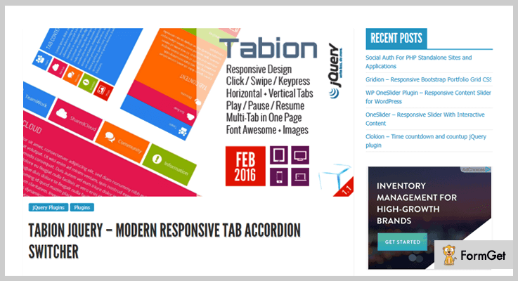 Tabion jQuery jQuery Tabs Plugins