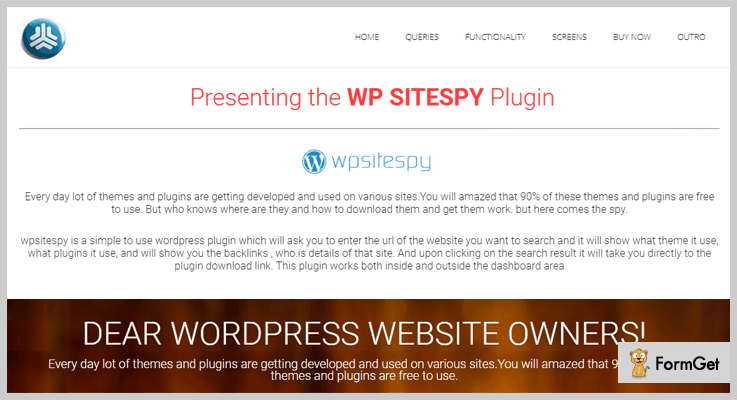 WP Sitespy WordPress Backlinks Plugins
