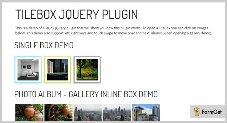 TileBox jQuery Lightbox Plugins