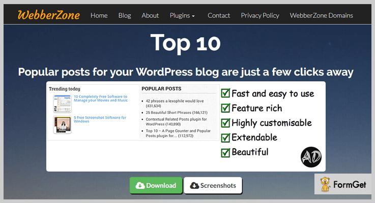 Top 10 Popular Post WordPress Plugins