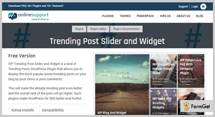 Trending Popular Post Slider and Widget Popular Post WordPress Plugins
