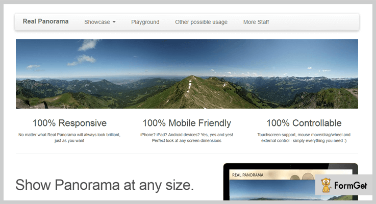 True Panorama jQuery Plugin