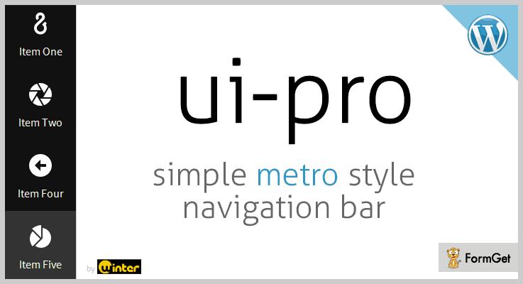UI Pro Navigation Bar WordPress Plugin