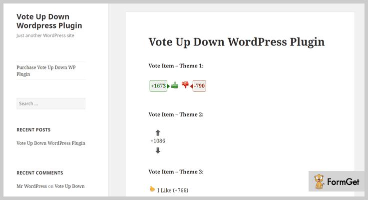 Vote Up Down Thumbs Up WordPress Plugins