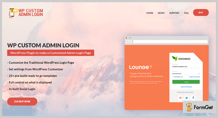 WP Custom Admin Login WordPress Admin Plugin