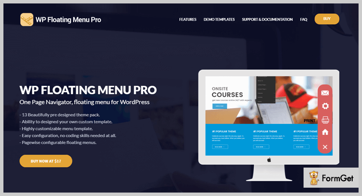 WP Floating Menu Pro Navigation Bar WordPress Plugin