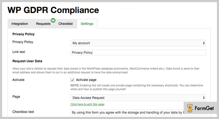 WP GDPR Compliance WordPress Plugin