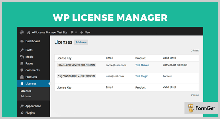 WP License Manager WordPress Plugins Licensing