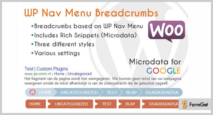 WP Nav Menu Breadcrumbs WordPress Plugin