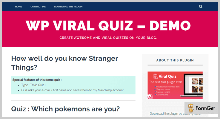 WP Viral WordPress Quiz Plugin