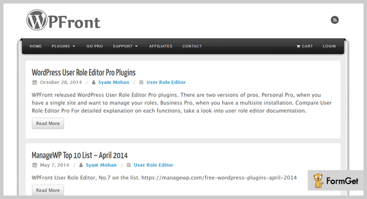 WPFront Notification Bar WordPress Plugin