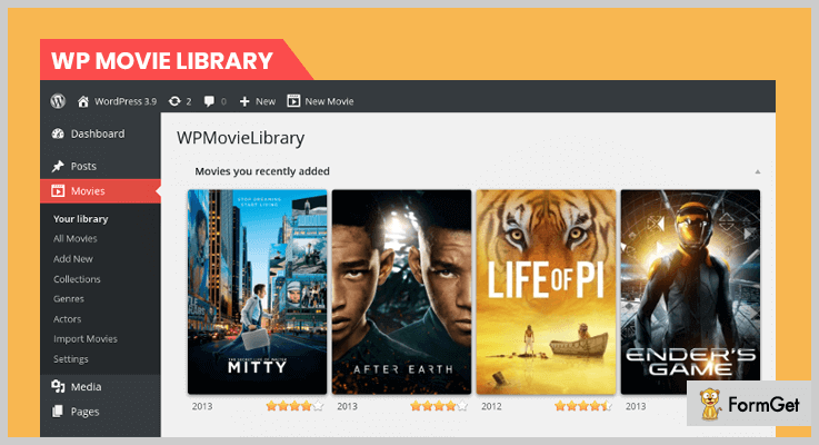 WPMovieLibrary WordPress Cinema Plugins